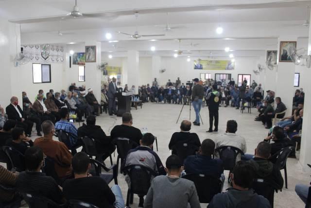 هيئة العمل الفلسطيني المشترك ترعى مصالحة عائلية في مخيم الرشيدية