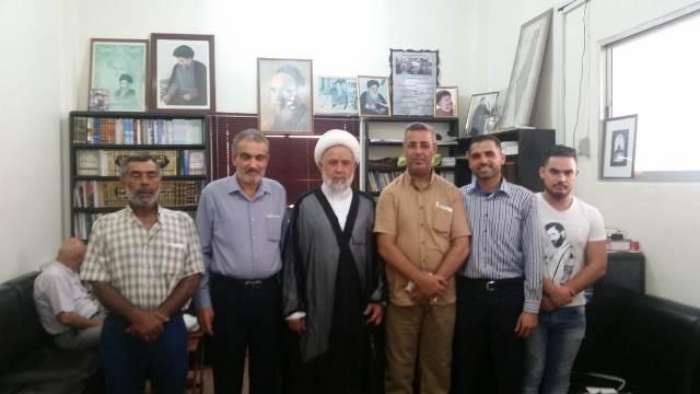 الشعببة تلتقي رئيس لقاء علماء صور ومنطقتها العلامة الشيخ علي ياسين العاملي