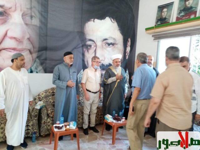 الجبهة الشعبية في صور تقدم واجب العزاء بشقيق رئيس جمعية هلا صور