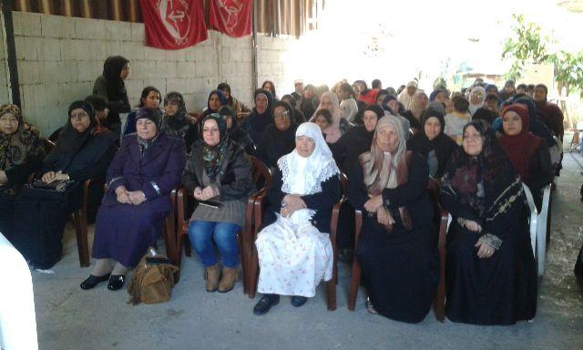 لجان المرأة الفلسطينية تكرم رفيقاتها في مخيم البص