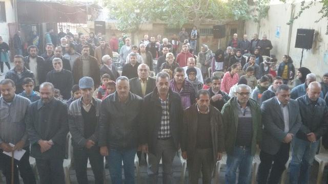 مهرجان جماهيري في الشمال لمناسبة يوم التضامن العالمي مع الشعب الفلسطيني