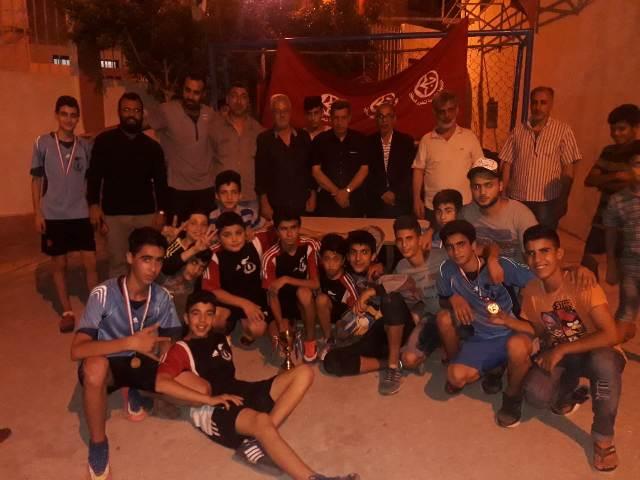 منظمة الشبيبة الفلسطينية في صيدا تقيم دوري رياضي كرة القدم