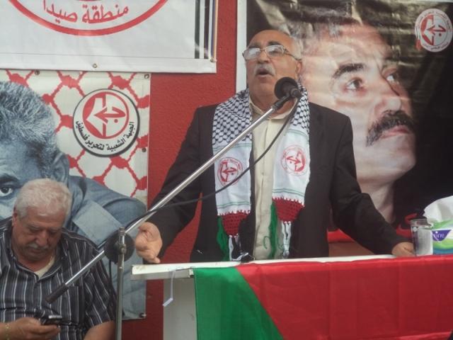 اللجان العمالية الشعبية الفلسطينية في مخيم عين الحلوة تحتفي بعيد العمال العالمي