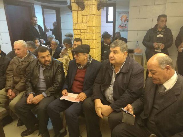 لقاء تضامني مع الأسرى والمعتقلين في السجون الصهيونية بسوريا