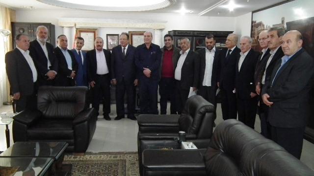 الشعبية بدمشق تلتقي الرئيس اليمني السابق علي ناصر محمد