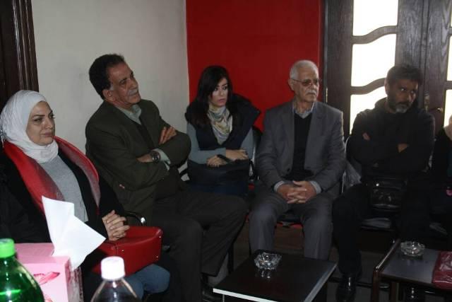 المكتب الإعلامي للجبهة بالخارج يقيم حفل استقبال لعدد من الفنانين