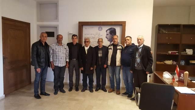 اللجان العمالية الشعبية الفلسطينية في صيدا زارت الحزب التقدمي الاشتراكي