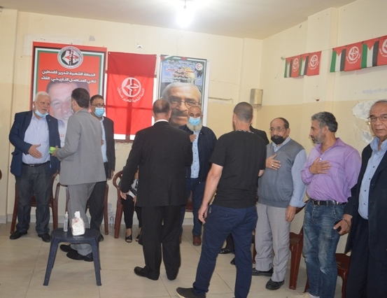 الجبهة الشعبية لتحرير فلسطين في لبنان تتقبل التعازي بالرفيقين المناضلين التاريخين