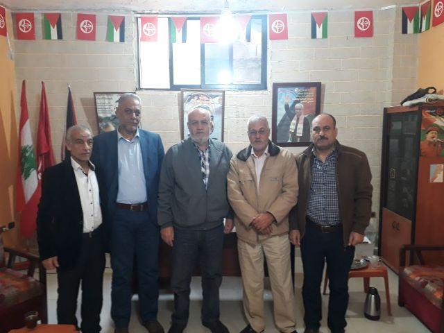 وفد من جبهة التحرير الفلسطينية زار مكتب الشعبية في صيدا