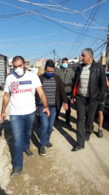 اللجان الشعبية برفقة وفد من UNDP تتفقد حي التنك في ميناء طرابلس