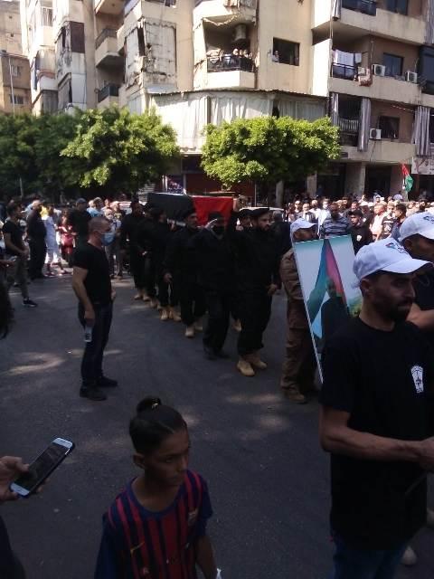 الجبهة الشعبية لتحرير فلسطين تشارك في تشييع المناضل غازي علي أبو حسن