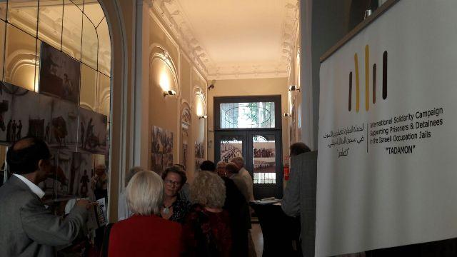 حملة تضامن الدولية  وسفارة فلسطين في بلجيكا ينظمان معرض