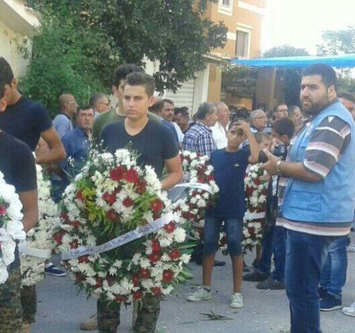 تشييع المناضل محمود مغنية في بلدته طير دبا - جنوب لبنان .