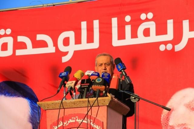النص الكامل لكلمة الرفيق جميل مزهر في مهرجان انطلاقة الجبهة شمال قطاع غزة