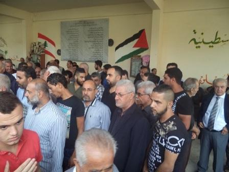 الشعبية في صيدا تشارك في جنازة شقيقة الدكتور طلال أبو جاموس