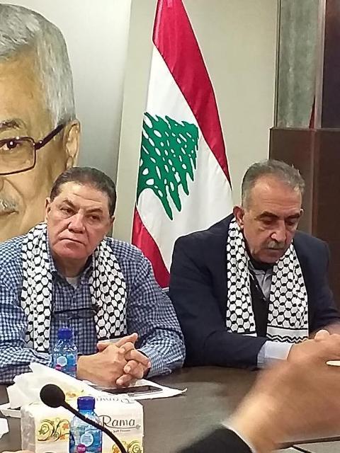 الهيئة الإدارية لرابطة أطباء الأسنان الفلسطينيين في لبنان نظمت وقفة تضامنية رفضا لصفقة القرن