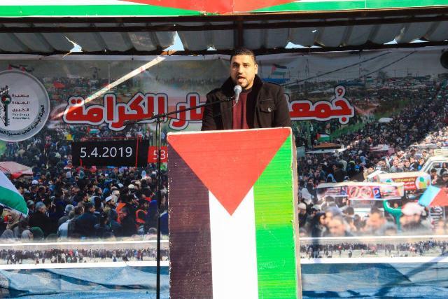 أحمد الطناني: ملحمة العودة والحرية والكرامة لا يمكن اقتلاعها أو إجهاضها أو تدجينها وأية جهود للتخفيف عن القطاع يجب ألا تكون بأي أثمان سياسية