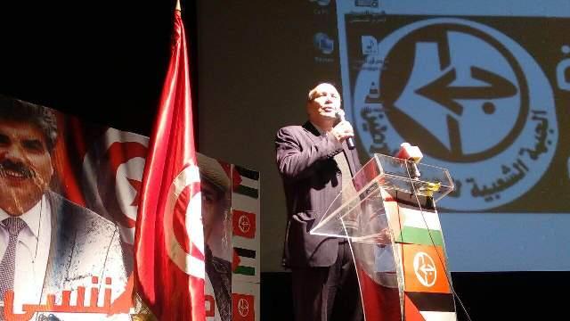 مهرجان جماهيري في تونس لمناسبة الذكرى الـ49 لانطلاقة الجبهةالشعبية لتحرير فلسطين