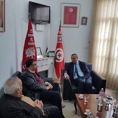 أمين عام الحزب الجمهوري التونسي يستقبل وفداً من الجبهة الشعبية