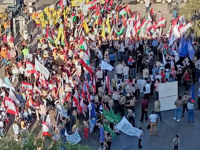 مسيرة ووقفة شعبية في طرابلس احتفالاً بانتصار فلسطين