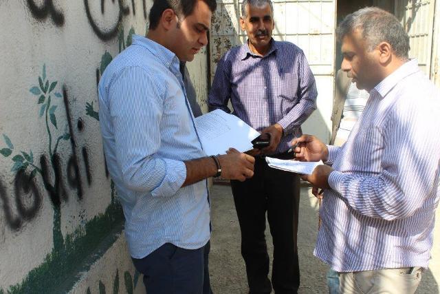 UNDP واللجان الشعبية والانروا تضع اللمسات الأخيرة على مشاريع للبنية التحتية في مخيم البداوي