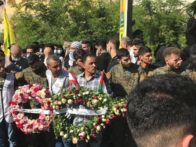 الجبهة الشعبية  تشارك في تشييع شهيد القدس محمد طحان في بلدة عدلون - جنوب لبنان