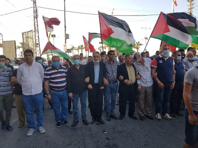 الشعبية في صور تشارك في مسيرة دعم وإسناد للشعب الفلسطيني ومقاومته الباسلة