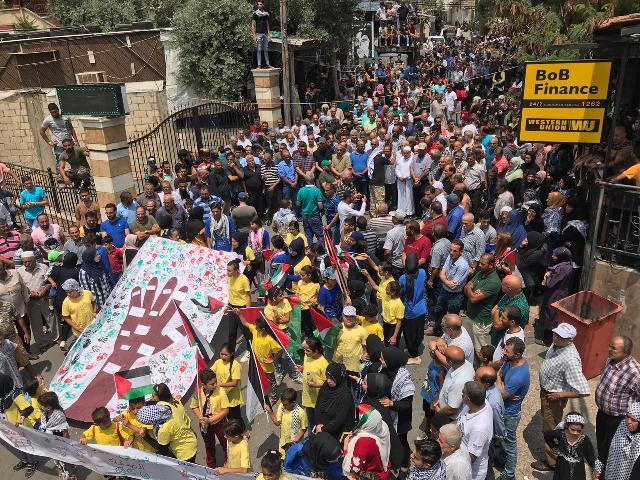 مسيرات الغضب والإضراب تعم مخيمات وتجمعات منطقة  صور للأسبوع الثالث