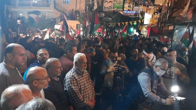 المخيمات الفلسطينية في لبنان تنتفض نصرة للقدس وأهلها