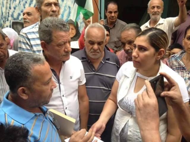 اعتصام أمام مكتب مديرة الأونروا في مخيم شاتيلا