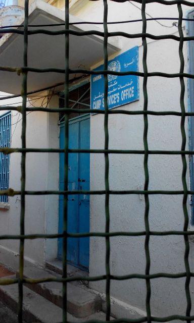 اللجان الشعبية تغلق مكتب مدير المخيم في مخيم الجليل