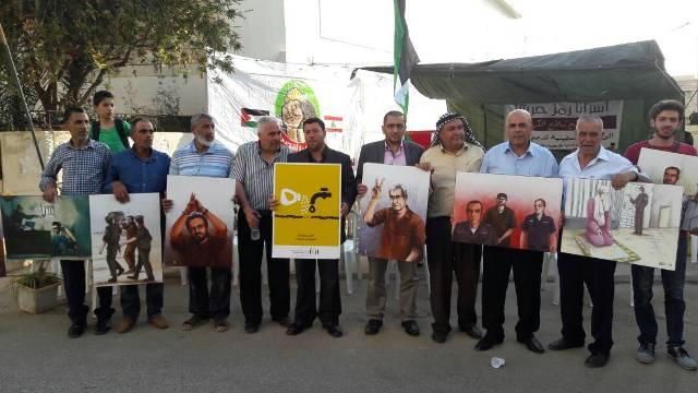 افتتاح خيمة تضامنية مع الأسرى في وادي الزينة