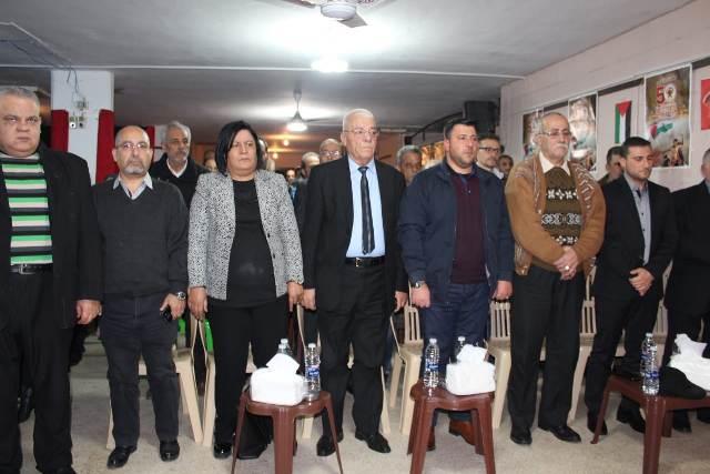 مهرجان للجبهة الديمقراطية في منطقة وادي الزينة بمناسبة يوبيلها الذهبي