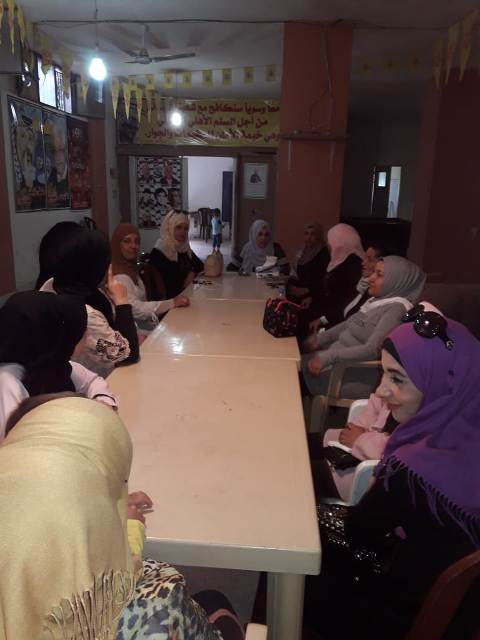 ندوة سياسية للجان المرأة الشعبية الفلسطينية في وادي الزينة