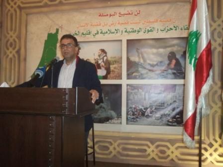 لقاء تضامني مع شعب فلسطين في إقليم الخروب/ لبنان  عبد العال : قضية فلسطين قضية الحرية الأولى في الشرق.