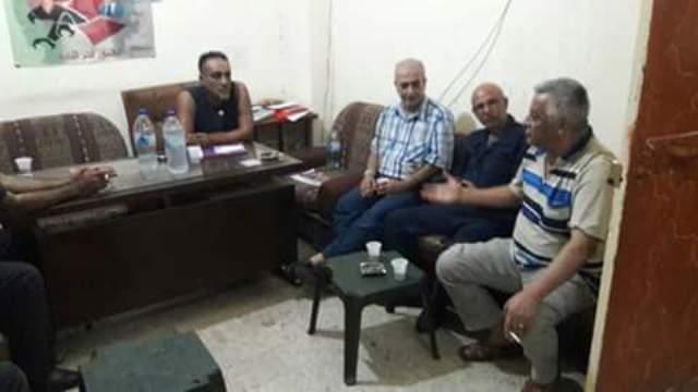 حركة فتح الانتفاضة تزور الجبهة الشعبية في مخيم البداوي