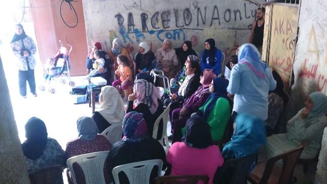 ندوة حول موضوع المخدرات أقامتها لجان المرأة الشعبية في مخيمعين الحلوة