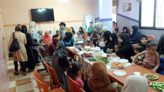 ندوة ثقافية للجان المرأة الفلسطينية في مركز التضامن الاجتماعي