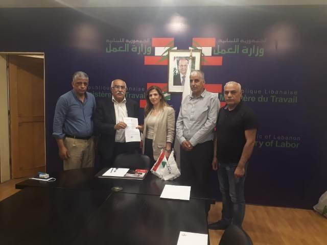 الجبهة الشعبية لتحرير فلسطين تلتقي وزيرة العمل اللبنانية