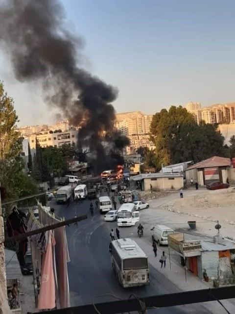 استهداف حافلة للجيش السوري غرب دمشق