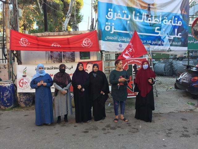 حواجز محبة عند مداخل مخيمات منطقة صور في ذكرى انطلاقة الجبهة الشعبية الـ53