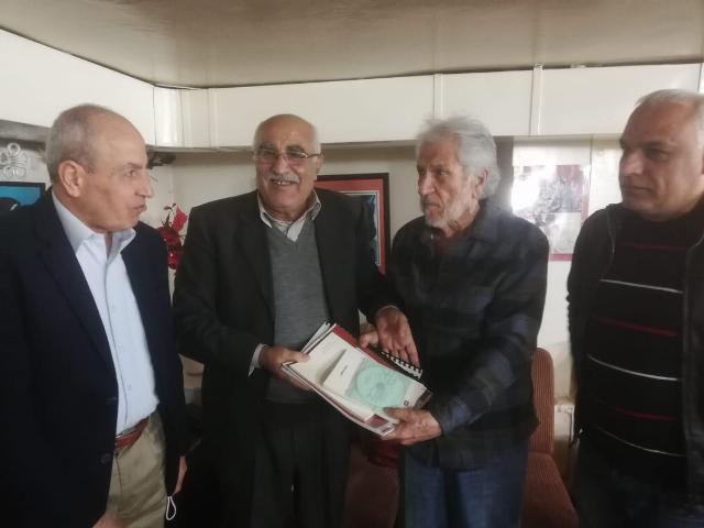 أمين عام رابطة الشغيلة زاهر الخطيب يستقبل  وفد الجبهة الشعبية لتحرير فلسطين