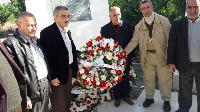 الشعبية تضع إكليلاً من الزهر عند النصب التذكاري للشهيد القائد عماد مغنية