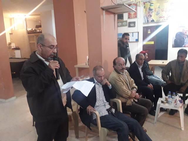 الشعبية في وادي الزينة تتقبل التبريك بشهداء التصدي للعدوان الصهيوني